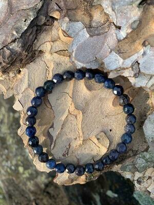 Bracelet en Dumortiérite 6 mm facetté