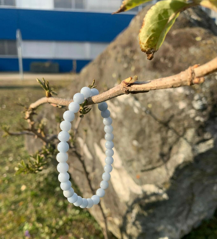 Bracelet en Angélite 6 mm