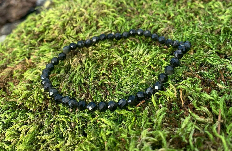 Bracelet en Obsidienne dorée 4 mm facettée