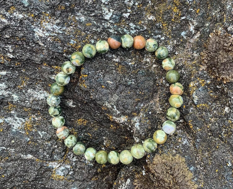 Bracelet en Rhyolite 6 mm