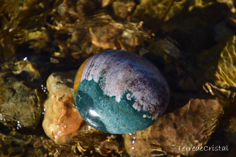 Jaspe océan galet