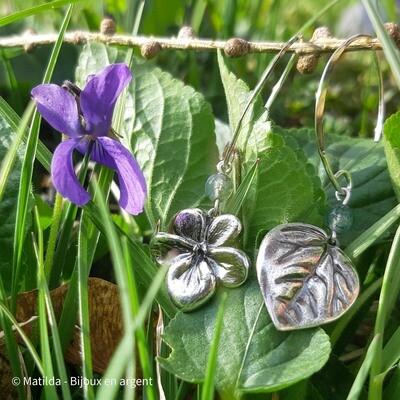 """Boucles d'oreilles """"Douce violette"""""""