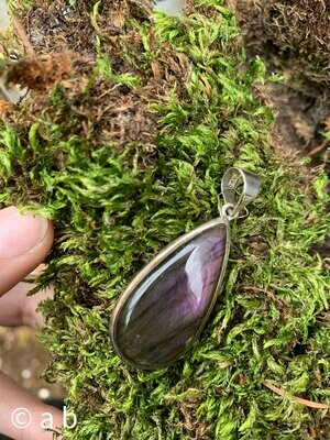 Pendentif en Labradorite (violette)