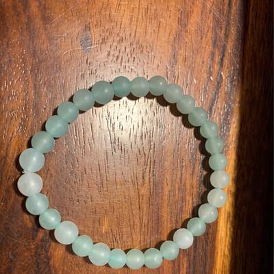 Bracelet en Aventurine verte mate 6 mm