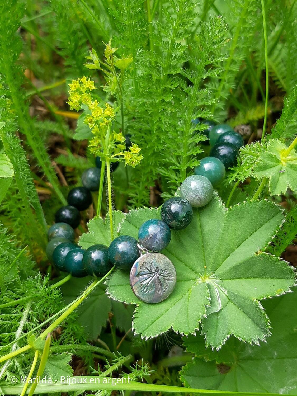 """Bracelet unisexe """"Nature et alchémille"""""""