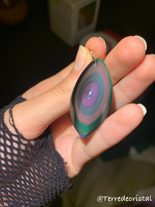 Pendentif en Obsidienne œil céleste