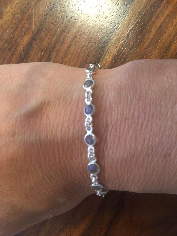 Bracelet en labradorite argent 925