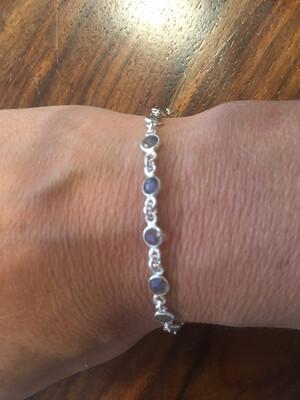 Bracelet en Labradorite et argent
