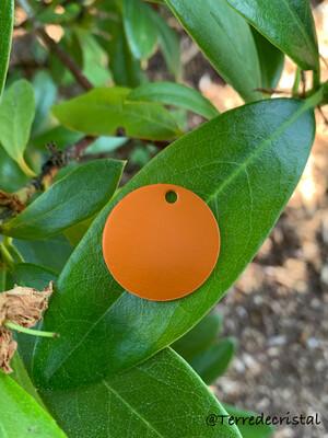 Pendentif plaque Tesla orange