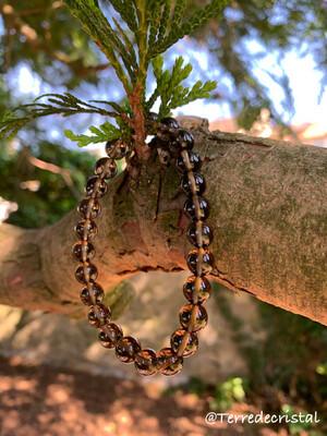 Bracelet en Quartz fumé 8 mm
