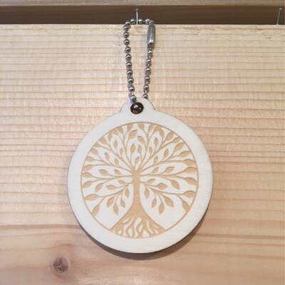Porte-clef arbre foncé