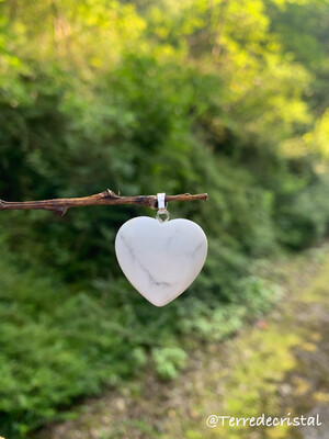 Pendentif  coeur en Magnésite