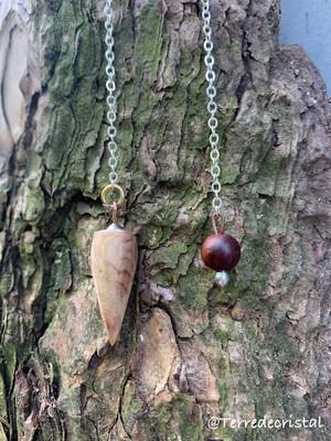 Pendule artisanal en bois de séquoïa