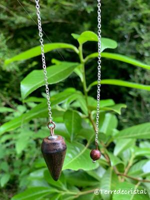 Pendule artisanal en bois de rose