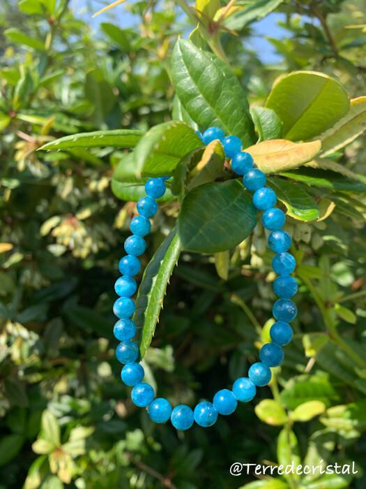 Bracelet en Apatite 6 mm