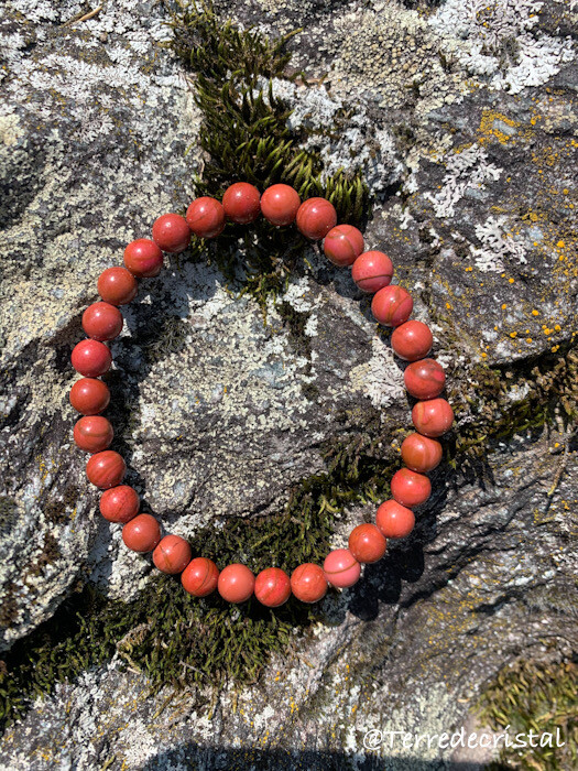 Bracelet en Jaspe rouge 6 mm
