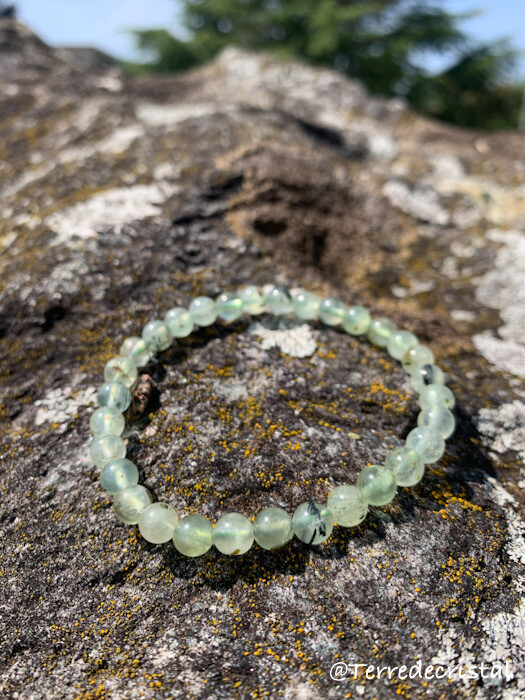 Bracelet en Préhnite 6 mm