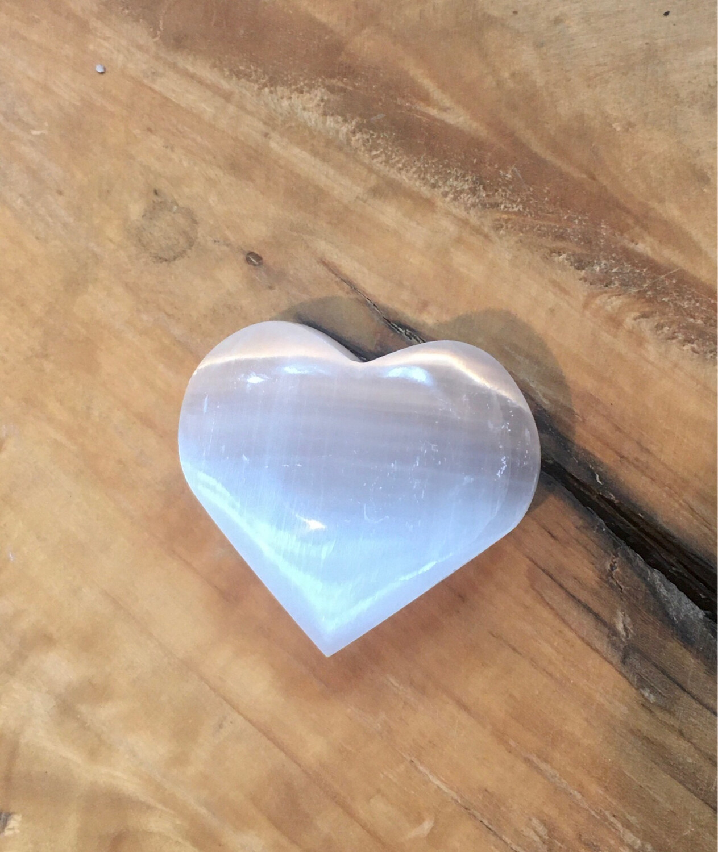 Cœur en sélénite