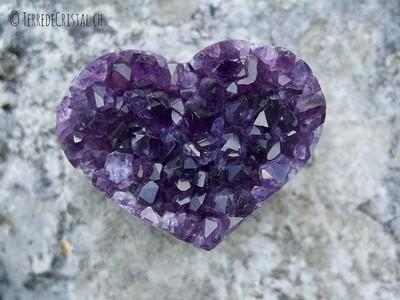 Coeur en Améthyste