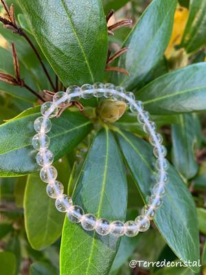 Bracelet en Cristal de roche 6mm