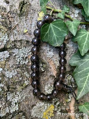 Bracelet en Obsidienne lamellé 8 mm