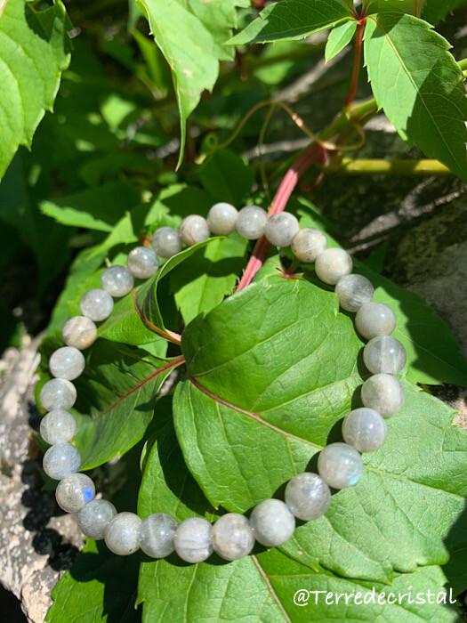Bracelet en Labradorite 6 mm
