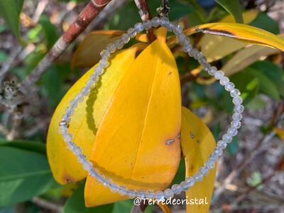 Bracelet en Labradorite 3 mm facettée