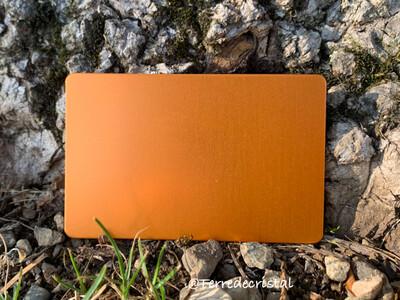 Plaque Tesla orange format carte de crédit