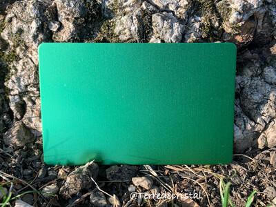 Plaque Tesla verte format carte de crédit