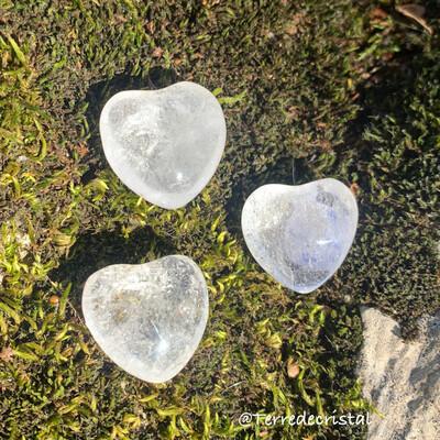 Coeur 2cm  en cristal de roche