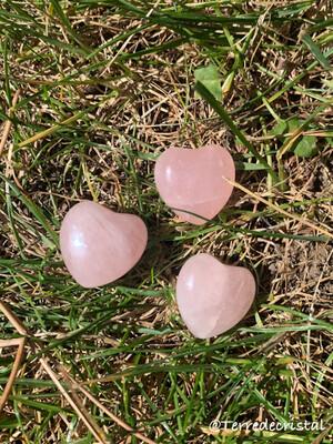 Coeur 2cm  en quartz rose