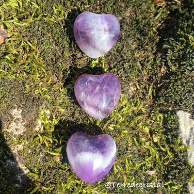 Coeur 2 cm en Améthyste