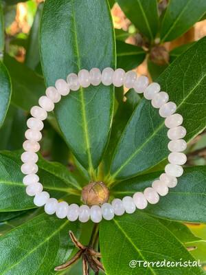 Bracelet en Quartz rose rondelles de 6 mm