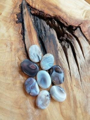 Agate du Botswana bleue plate