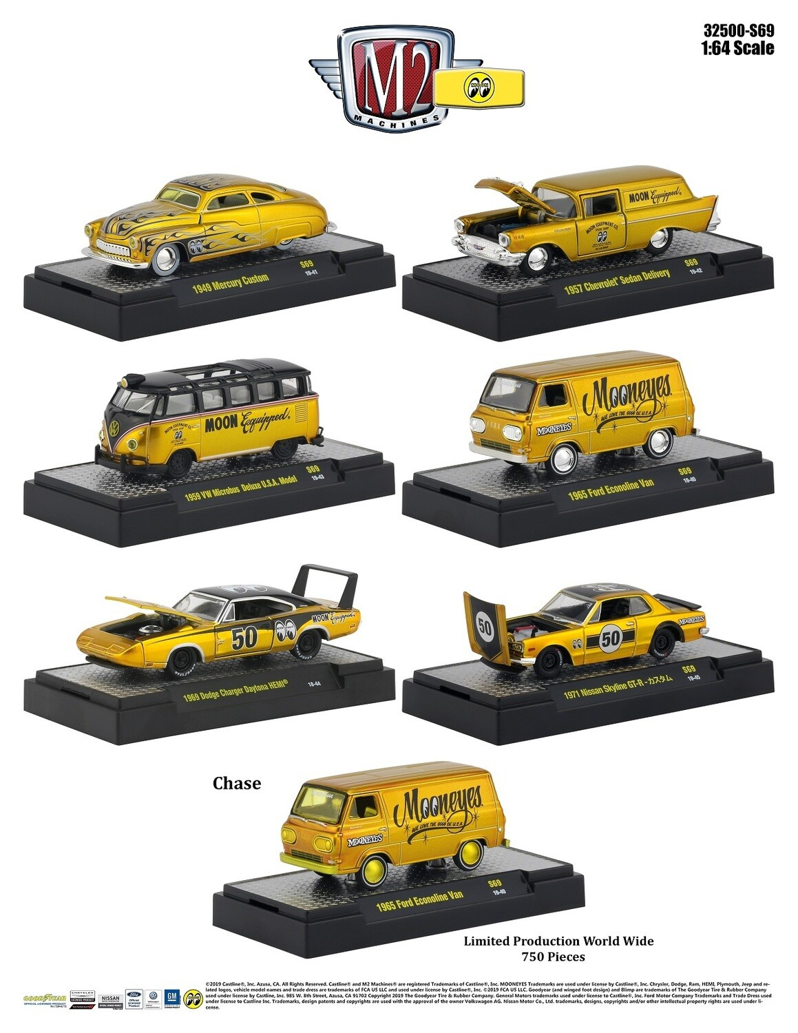 Hobby Exclusive Mooneyes Liquid Gold - CHASE NOT INCLUDED