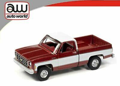 Auto World 1:64 Chevy Pickup Fleetside 1977 Red
