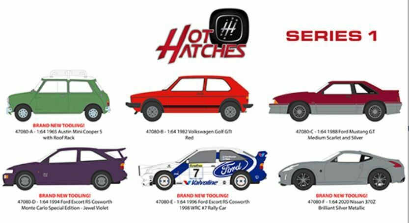 Greenlight 1:64 Hot Hatches Series 1 Assortment (6 Styles)