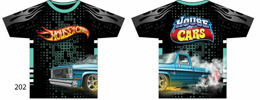 Squarebody House of Cars Short Sleeve Burnin Rubber Edition Size M