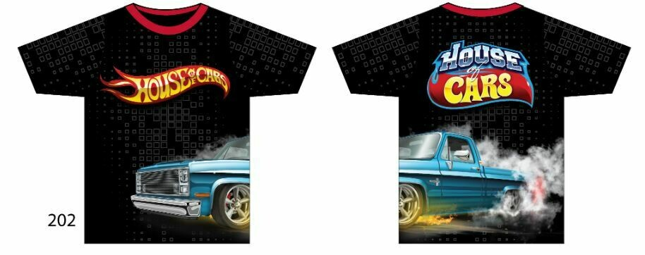 Squarebody House of Cars Short Sleeve Burnin Rubber #2 Edition Size XL