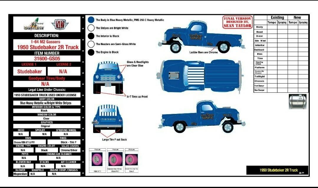 1950 Studebaker 2R Truck.Hobby Exclusive M2