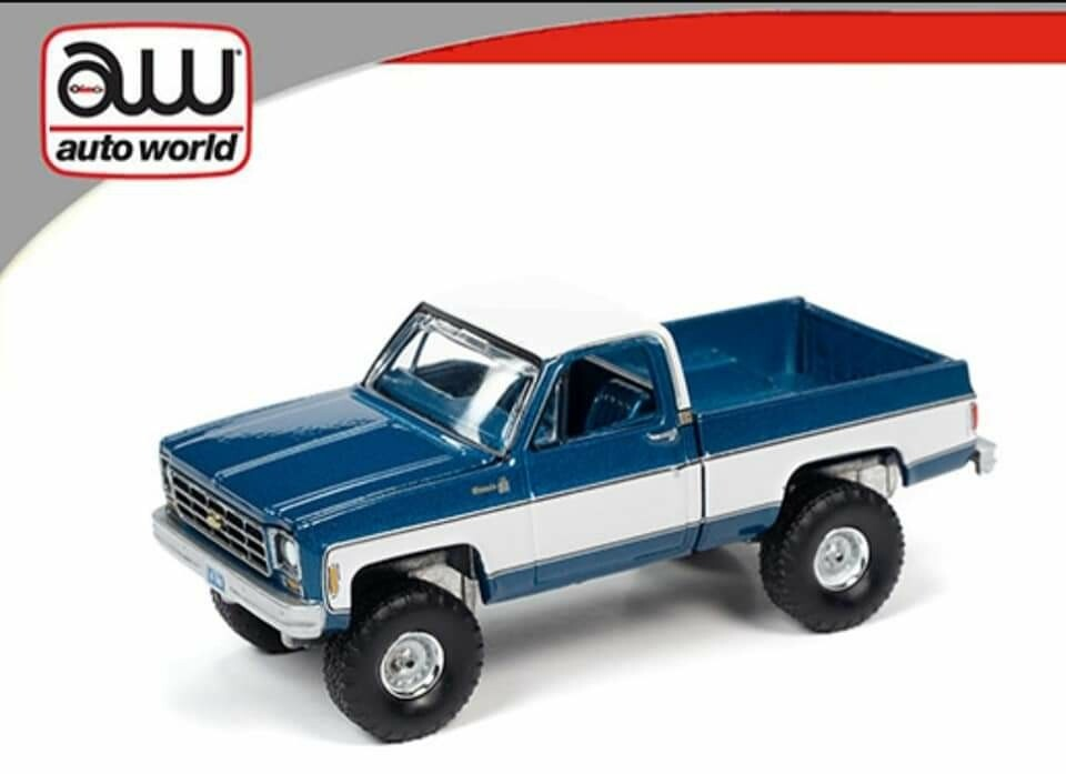 4x4 Silverado 1978 K10 - Autoworld Blue/White
