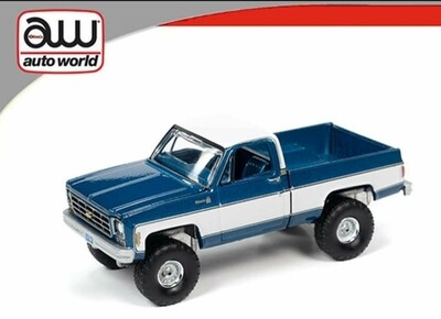 4x4 Silverado 1978 K10 - Autoworld Blue/White