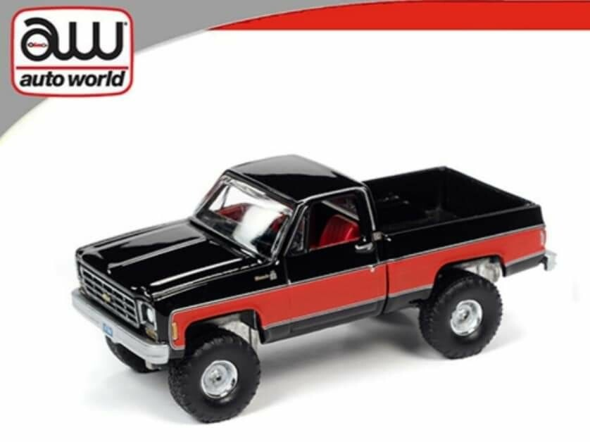 4x4 Silverado 1978 K10 - Autoworld Black/Red