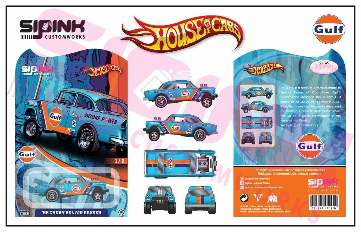 Gulf '55 Gasser 1 of 25 House of Cars Exclusive Pre Order