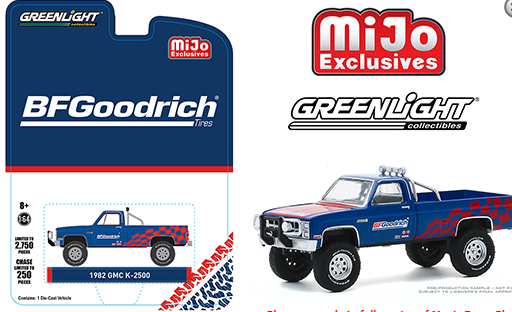 Greenlight 1:64 Mijo Exclusive 1982 GMC K-2500 BFGoodridge Custom 4x4