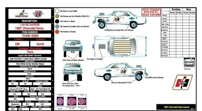 M2 GASSER - HURST CHEVY NOVA GASSER - 1967 Chevrolet Nova Gassers /HURST Release 31600-GS06