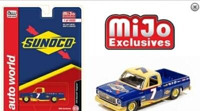 Auto World 1:64 Mijo Exclusive 1973 Chevy Cheyenne Sunoco Racing #7