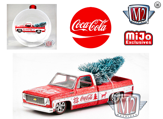 M2 Machines 1:64 Coca Cola Ornament 1973 Chevy Fleetline Truck Limited Edition