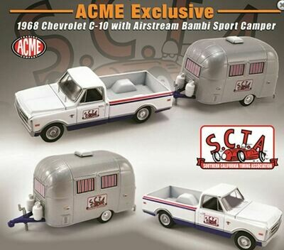 Greenlight 1:64 ACME Exclusive 1968 Chevrolet C-10 with Airstream Bambi Sport Camper Limited 2,500