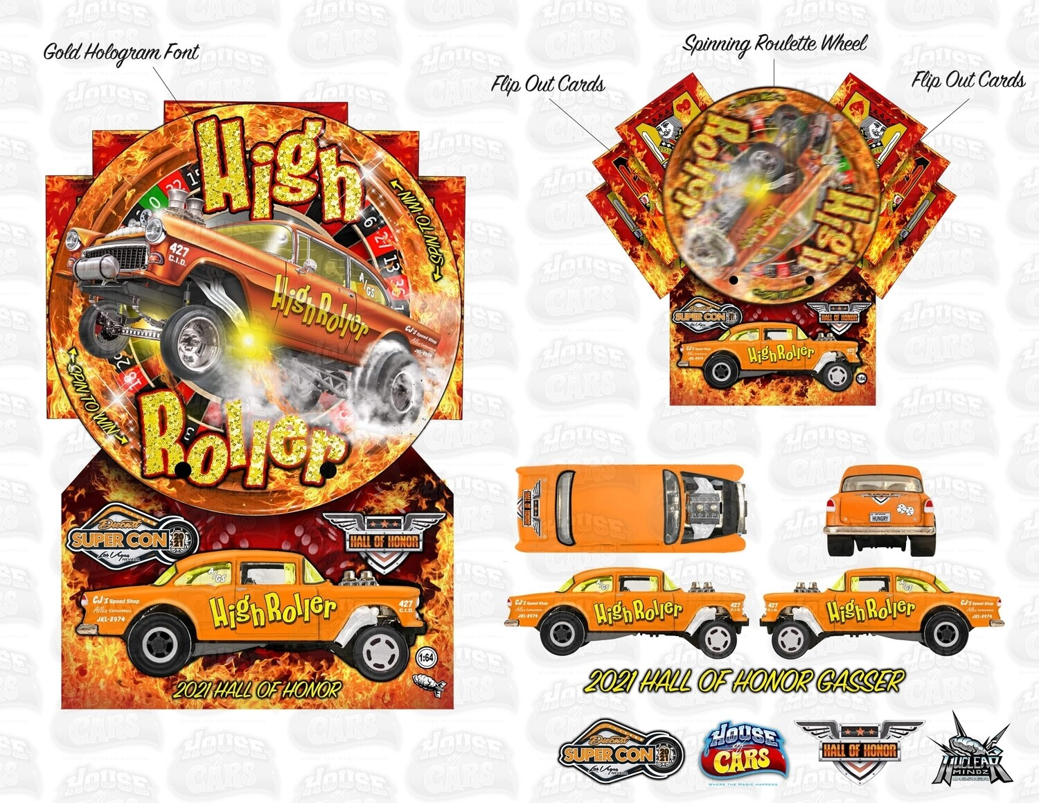 Hall of Honor Brendon Vetuskey '55 Gasser Event Exclusive Orange Color